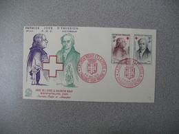 FDC 1959     N° 1226 Et 1227 Abbée De L'Epée Et  Valentin Hauy Au Profit De La Croix Rouge      à Voir - FDC