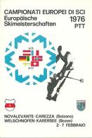 Nova Levante-Carezza, Welschnofen-Karersee, Campionati Europei Di Sci 1976, Europaische Skimeisterschaften - Wintersport