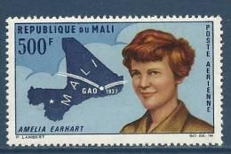 "Mali Aerien YT 45 (PA) "" Amelia EARHART "" 1967 Neuf** - Mali (1959-...)"