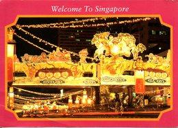 SINGAPOUR. Carte Postale écrite. Chinatown. - Singapore