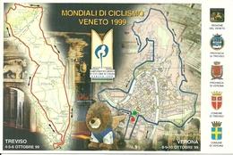 """Treviso - Verona, """"Mondiali Di Ciclismo Veneto 1999"""", Percorsi E Programma Gare - Ciclismo"""