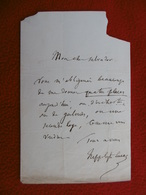 LETTRE AUTOGRAPHE HIPPOLYTE LUCAS LUCAS A SALVADOR DU THEATRE DE L AMBIGU - Autographs