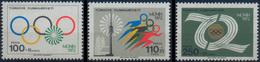 //// TURQUIE Yvert 2035 / 2037** Michel 2261 / 2263** - Ete 1972: Munich