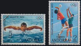 //// ANDORRE ESPAGNOL Yvert 69 / 70** Michel 76 / 77** - Ete 1972: Munich