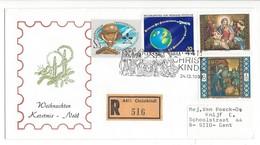 21038 - Christkindl 1992 Lettre Recommandée Pour Gent 24.12.1992 - Noël