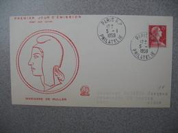 FDC 1959     N° 1011C   Type Marianne De Muller      à Voir - FDC