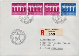 Postal History: Switzerland Registered Cover With Zwei Tage Marsch Cancel - Switzerland