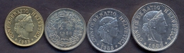 Switzerland Swiss 5 10 20 50 Rappen 1988 VF / XF (Set 4 Coins) - Suisse
