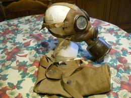Gas Masque Italienne Ww2 Fouille  T35 - 1939-45