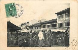 ASIE COCHINCHINE CHOLON LE MARCHE AUX POISSONS 1905 VOIR IMAGES - Cartes Postales