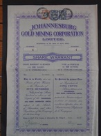 AFRIQUE DU SUD - JOHANNESBURG GOLD MINING - TITRE DE 500 ACTIONS , NUMERO 1 - 1937 - Actions & Titres
