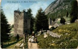 Pontresina - Turm Spagnola - GR Grisons