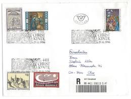 21045 - Christkindl 1996 Lettre Recommandée Pour Chur 29.11.1996 - Noël