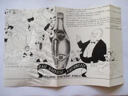 (1937)  Publicité Déchirée PERRIER  Par Dubout (Présence De Stoctch)    - Coupure De Presse Originale (Encart Photo) - Documents Historiques