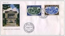 VATICANO - 9 10 1957 FDC PONTIFICIA ACCADEMIA SCIENTIARUM - FDC