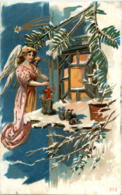 Engel - Prägekarte - Engel