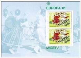 MADEIRA - FOGLIETTO EUROPA 1981 - Europa-CEPT