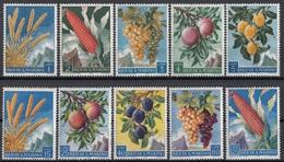 San Marino 1958 Blf. 488/497  Prodotti Agricoltura Frumento Granoturco Uva Pesche Prugne  Full Set MNH - Agricoltura