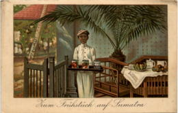 Zum Frühstück In Sumatra - Werbekarte Conserves Lenzbourg - Indonesien