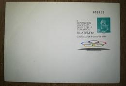 ESPAÑA SPAIN ESPAGNE SPANIEN FILATEM 86 CALELLA 1986 EDIFIL 4 SOBRE ENTERO POSTAL SEP - Enteros Postales