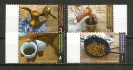 Ustensiles Pour La Préparation Du Café Dans Les Emirats Arabes Unis (UAE). Série De 4 Timbres Neufs ** Année 2013 - Alimentation