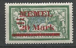 MEMEL N° 37 NEUF* TRACE DE CHARNIERE / MH - Memel (1920-1924)