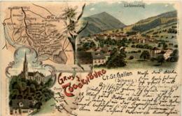 Gruss Aus Toggenburg - Lichtensteig - Litho - SG St. Gall