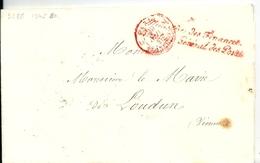 Lettre En Franchise De Paris / Ministère Des Finances Directeur Général Des Postes, 1845 - Postmark Collection (Covers)