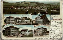 Gruss Aus Wolfertswil - Litho - SG St. Gallen