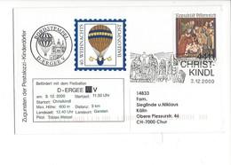 21055- Christkindl 2000 40.Weihnachts BALLONPOST  Pour Chur 03.12.2000 - Noël