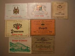 Etiquettes De Vins D'Alsace - Non Classés