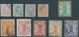 PERSIA PERSE IRAN PERSIEN 1894 Nasser Eddin Shah Qajar ,The Complete Series Used- Scott 90/100 , Value $105.00 - Iran