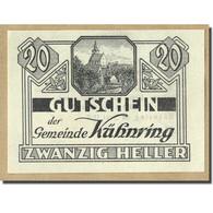 Billet, Autriche, Kuhnring, 20 Heller, Paysage, 1920, SPL, Mehl:FS 489f - Autriche