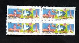 Brazil 2018 Stamp Block Of 4 Guyana Tourism, Fauna Flora Watch Lighthousr Tiger - Brazil