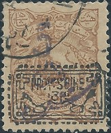 PERSIA PERSE IRAN PERSIEN 1900-1902 Revalued Issue ,Surcharged 5ch + Provisoire 1319 On 8ch ,Used - Value $100.00 - Iran