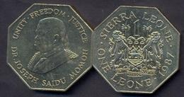 Sierra Leone 1 Leone 1987 AUNC - Sierra Leone