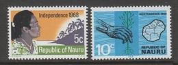 PAIRE NEUVE DE NAURU - INDEPENDANCE N° Y&T 83/84 - Nauru