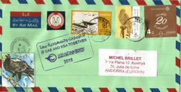 "Belle Lettre De Sharjah. Special Cancel ""UAE And Saudi Arabia Stand Strong Together"" !, Adressée Andorra - Sharjah"