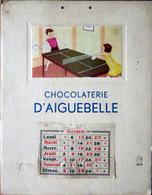 PING PONG  TENNIS DE TABLE GRAVURE ORNANT UN CALENDRIER 1937 BEL ETAT 12 X 7 Cm - Tennis De Table