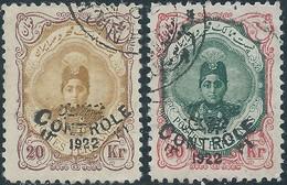 PERSIA PERSE IRAN PERSIEN 1911.Ahmad Shah Qajar,Overprinted Controle On 20 & 30 Kran Scott 661/662 - Value $18.00 - Iran