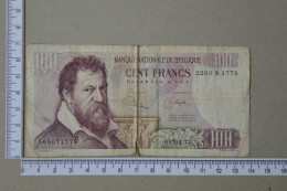 BELGIUM 100 FRANCS 1977 -     2 SCANS - (Nº16997) - 100 Francs