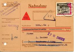 Colis Postal. Contre Remboursement De Berlin. Nachnahme 1964 - Berlin (West)