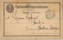 Schweiz 1874 - Stamped Stationery
