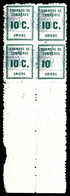 ** N°1a, Amiens, 10 Sans C Tenant à Normaux En Bd4. TB  Qualité: **  Cote: 170 Euros - Strike Stamps