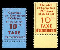 ** N°2/3, Orléans, Les 2 Valeurs Bord De Feuille, SUP (certificat)  Qualité: **  Cote: 650 Euros - Strike Stamps