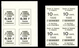 ** N°4 Et 8, Epinal 0.20f Noir Sur Paille Et Saint Dizier 10c Noir Sur Jaune, Les 2 Valeurs En Bd4. TB  Qualité: **  Cot - Strike Stamps