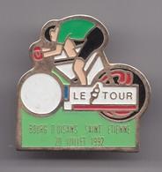 Pin's Cyclisme Vélo Le Tour Bourg D' Oisans Saint Etienne 20 Juillet 1992 Réf 7169 - Cycling