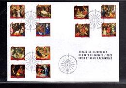 """"""" NATIVITES / ADHESIFS """" Sur Env. 1er Jour De 2011. Collection """" CACHETS PREMIER JOUR """" N° YT ADH 621 à 632 (12 Timbres) - France"""