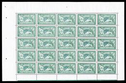 ** N°143, Merson, 45c Vert Clair Et Bleu En Feuille Complête De 25 Exemplaires, Fraîcheur Postale, Très Bon Centrage, SU - Feuilles Complètes