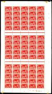 ** N°183/86, Série JO De Paris 1927, Les 4 Valeurs En Feuilles Complètes De 75 Exemplaires. SUPERBE. R.R. (certificat)   - Feuilles Complètes